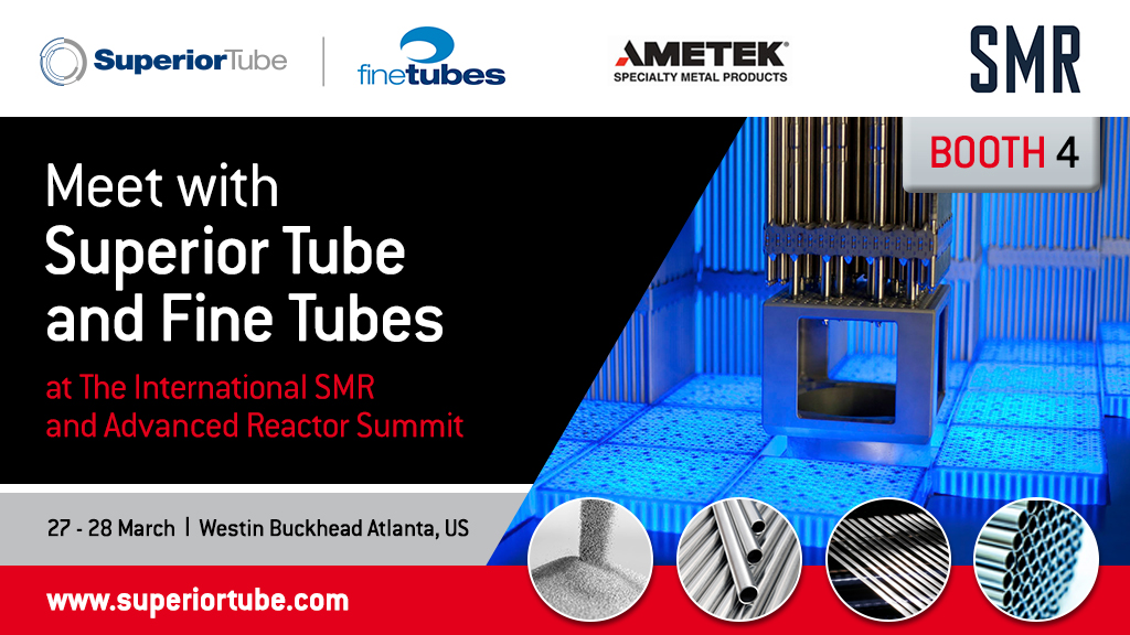 Superior Tube showcases its tubing solutions for nuclear applications at SMR Summit 2018